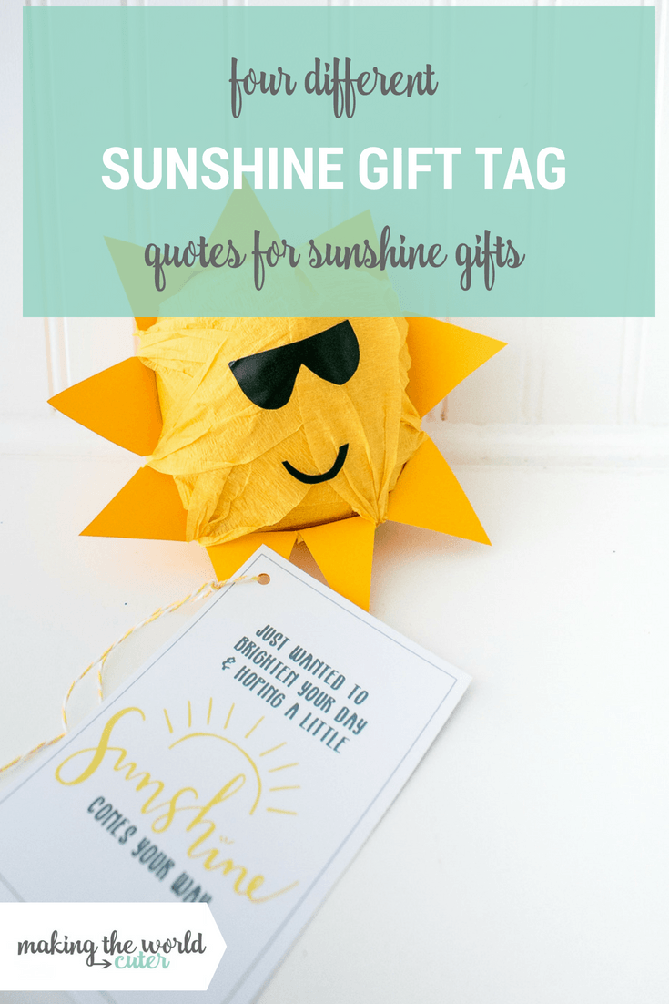 picture about Basket of Sunshine Printable known as Sunlight Reward Tags No cost Printable with 4 Alternate Quotations