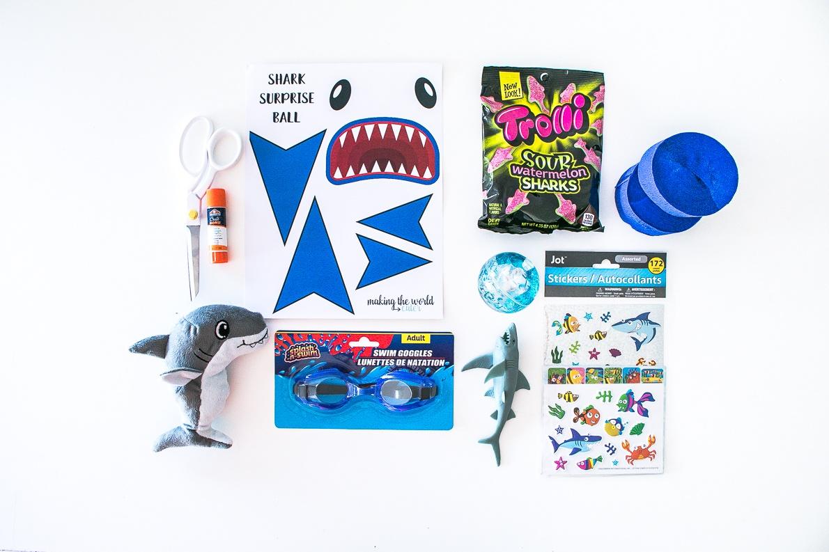 Shark Surprise Ball Supplies