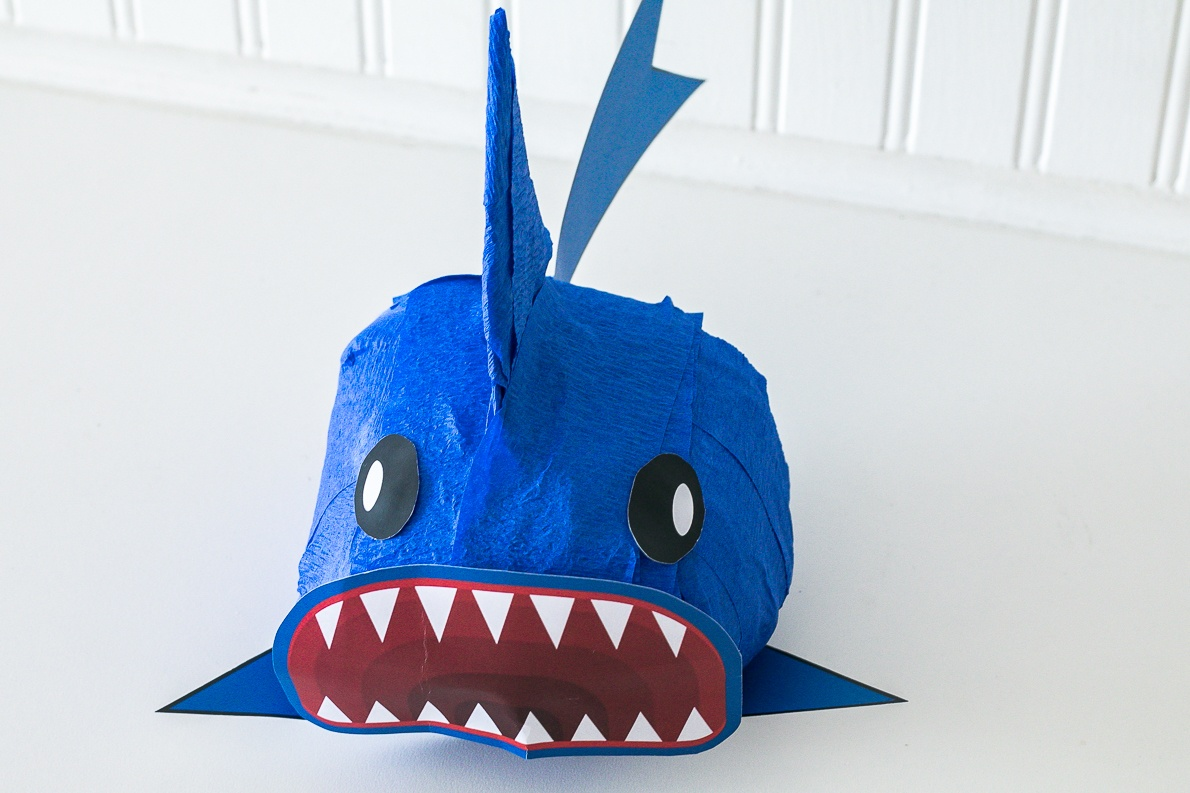Shark Surprise Ball DIY with free printable