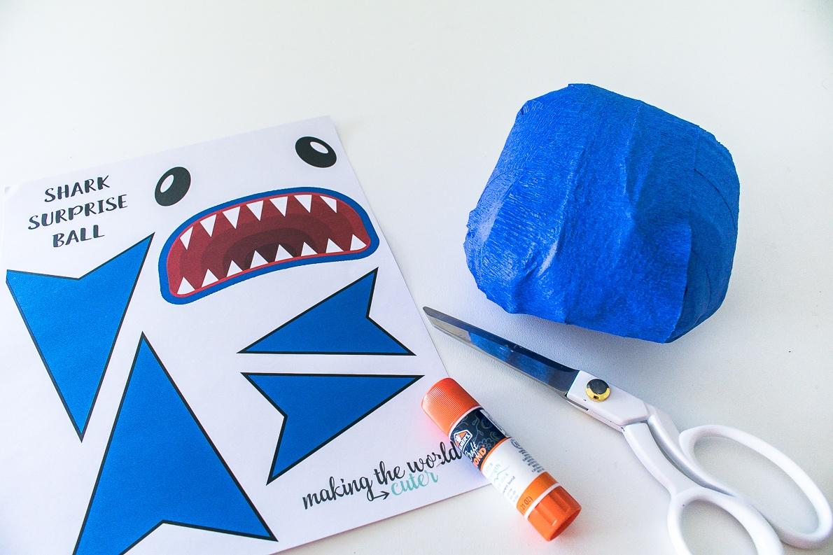Shark Surprise Ball DIY