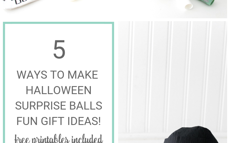 5 Ways to Make Halloween Surprise Balls with Free Printables