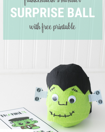 Frankenstein's Monster Surprise Ball with Free Printable
