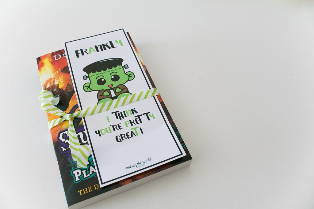 Halloween Printable Bookmark with Frankenstein's Monster