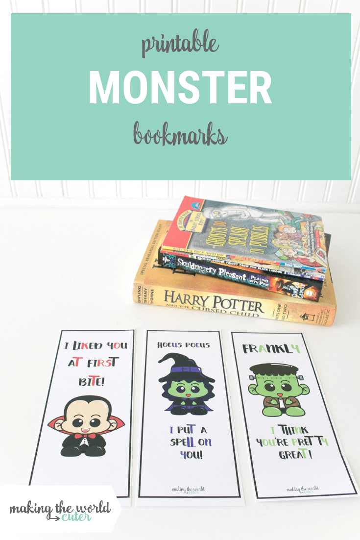 graphic regarding Cute Printable Bookmarks named 3 Carefully Adorable Free of charge Printable Halloween Bookmarks