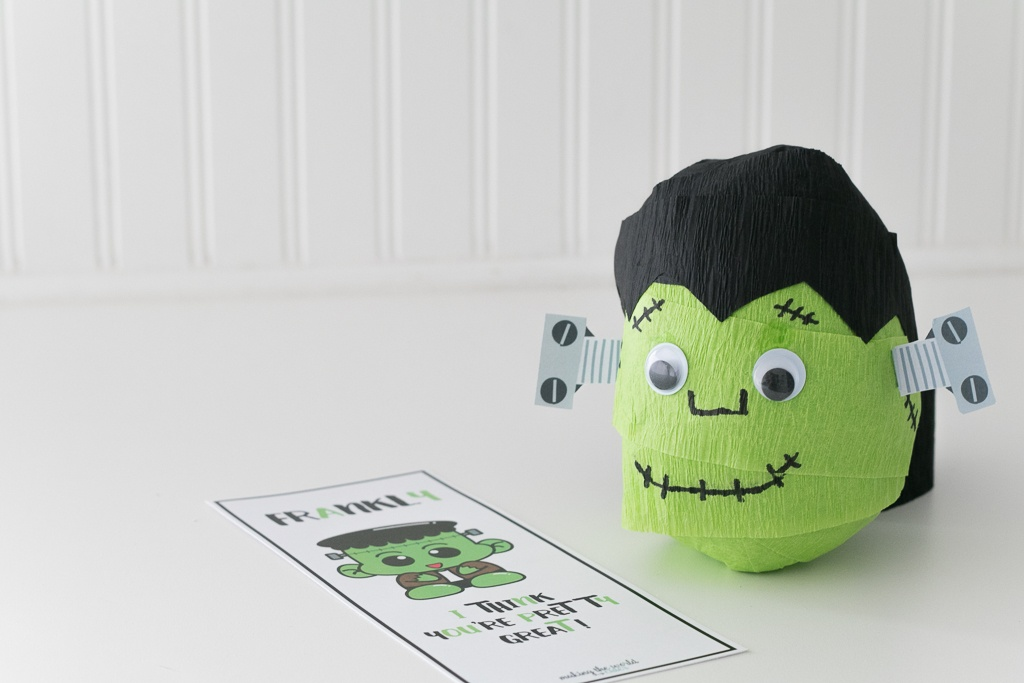 Finishing up the Frankenstein's Monster Surprise Ball