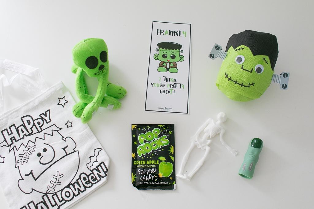 Items inside Frankenstein's Monster Surprise Ball
