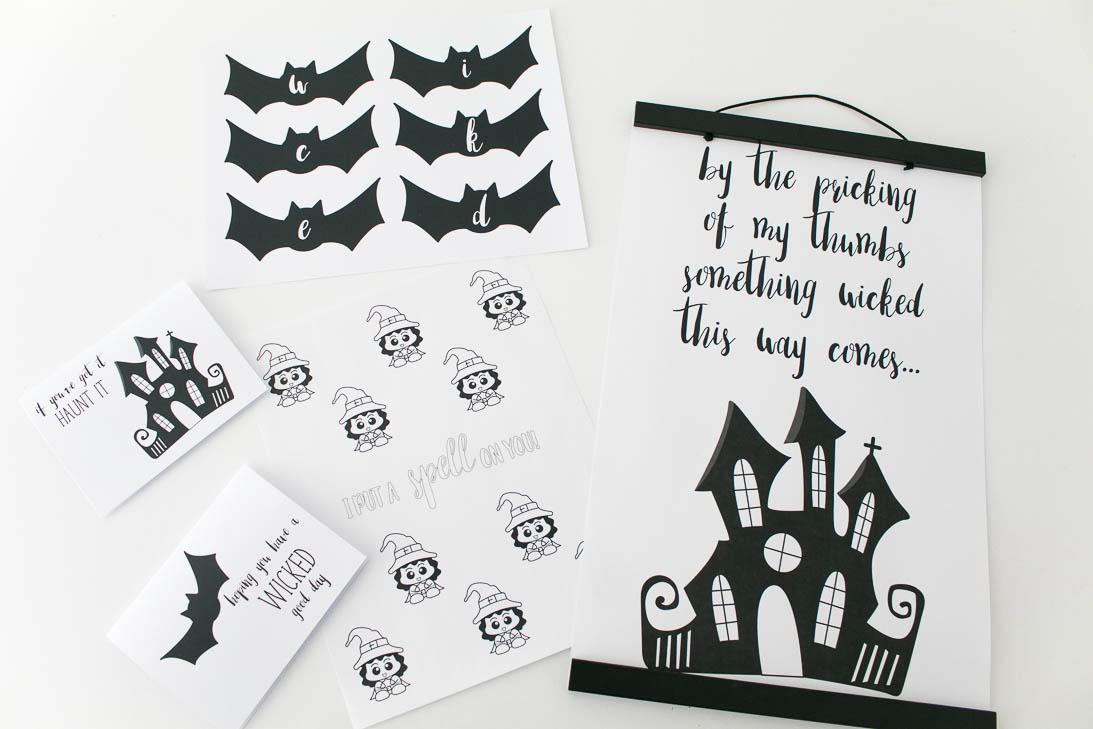 October Wicked Cute Halloween Printable Pack