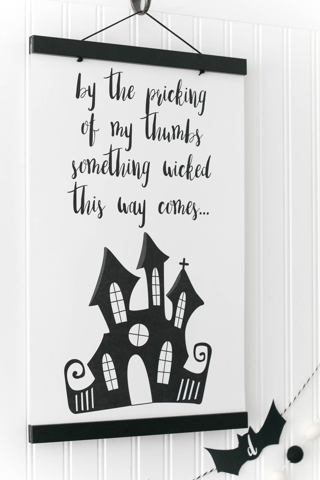 Wicked Cute Halloween Printable Poster. By the pricking of my thumbs something wicked this way comes