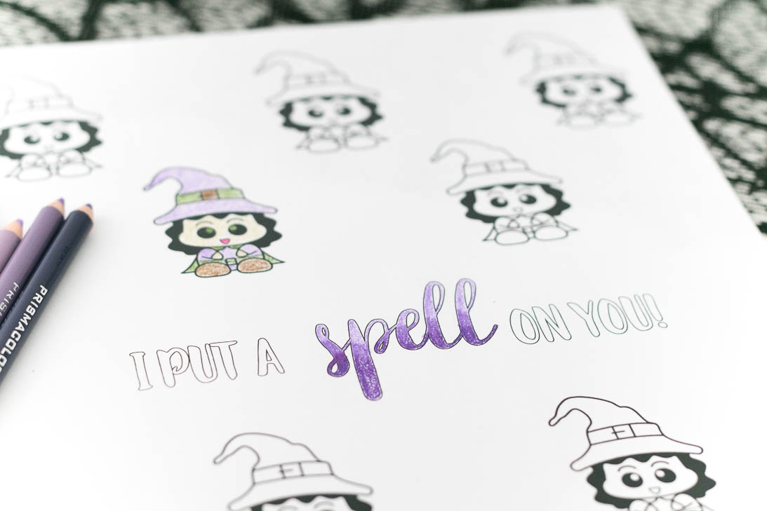 I put a spell on you Halloween coloring sheet