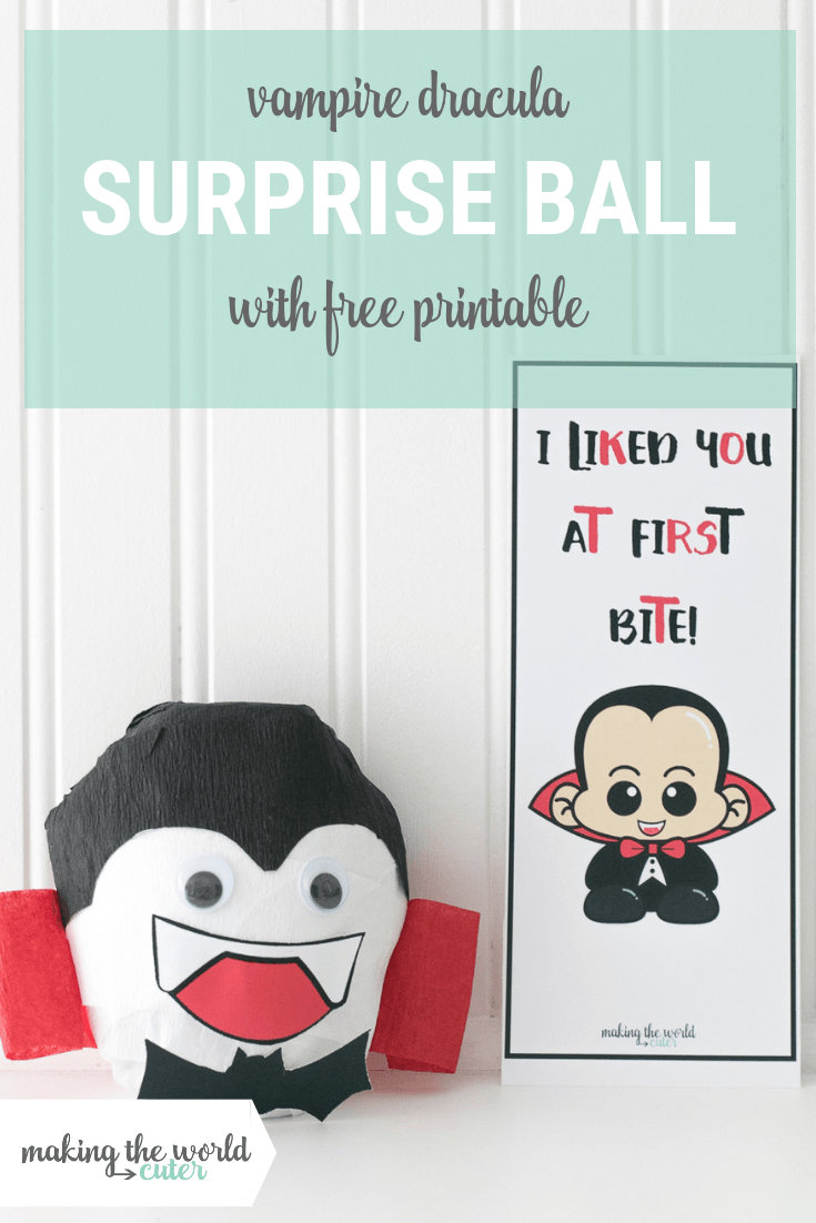 Dracula Vampire Surprise Ball with Free Printable