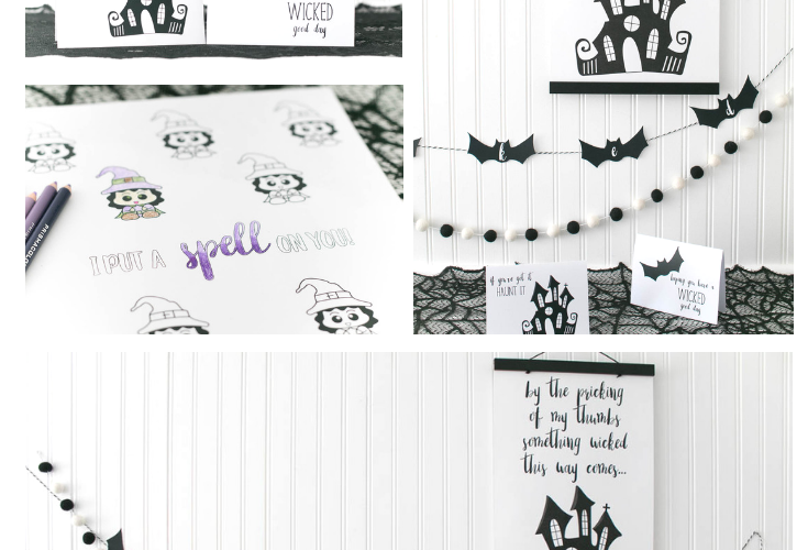 October Wicked Cute Halloween Printable Pack