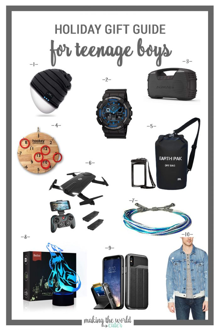 10 Brilliant Gifts for Teen Boys. Ideas for Christmas, Birthdays, Graduations and any other gift giving occasion