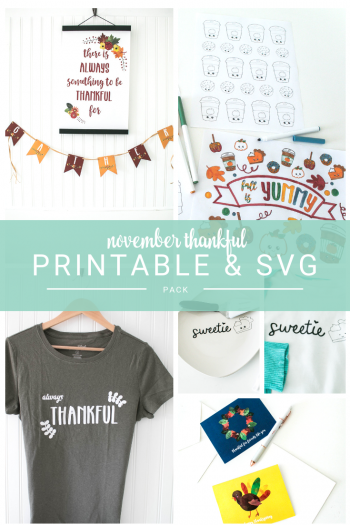 November Thankful Cute Pack! Full of free printable decor, coloring sheets, svg files ,greeting cards...all perfect for Thanksgiving. Make cute Thanksgiving t-shirts for you and for your kids, or make some cute hostess gifts with vinyl cut outs on a plate or something else!