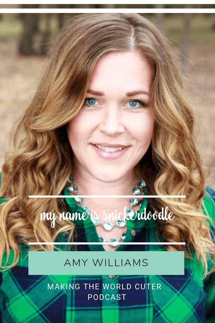 Podcast My Name is Snickerdoodle-Amy Williams