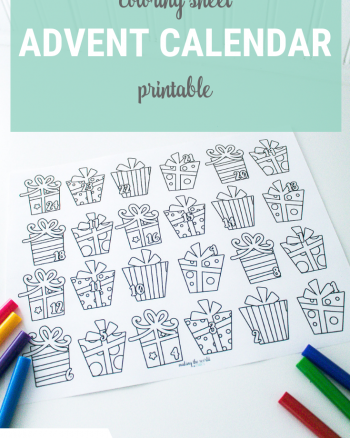 Advent Calendar Coloring Page Printable