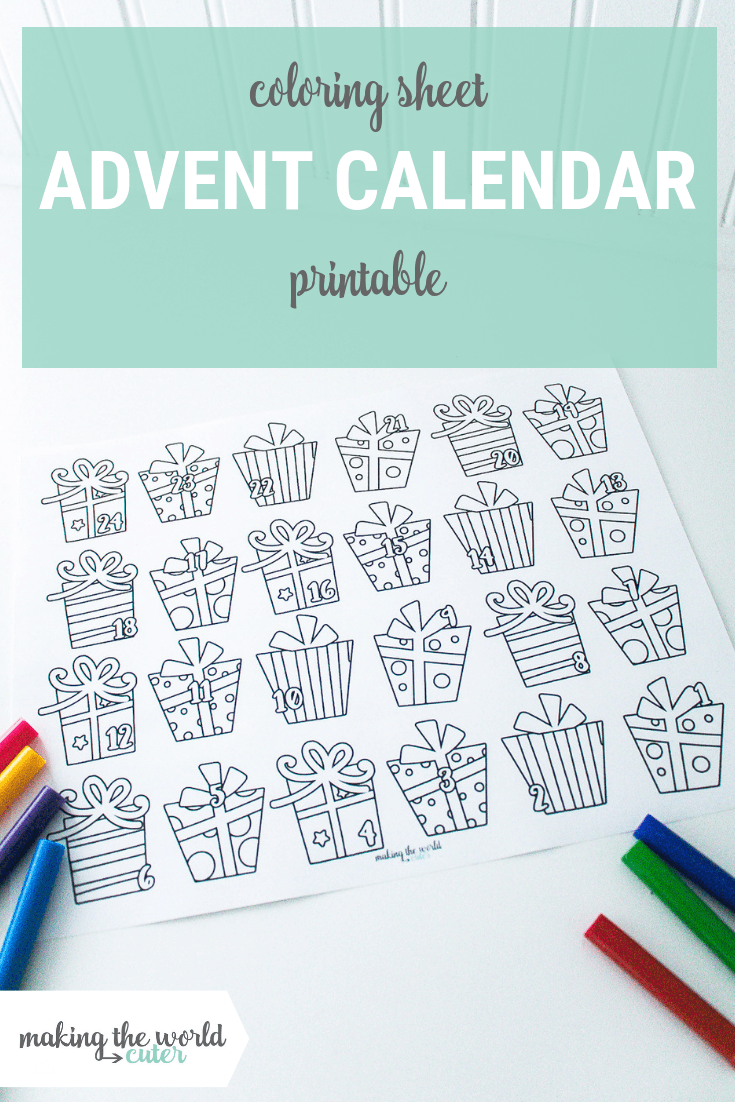 image about Advent Calendar Printable identify Print this for Xmas! Darling Introduction Calendar Coloring Sheet