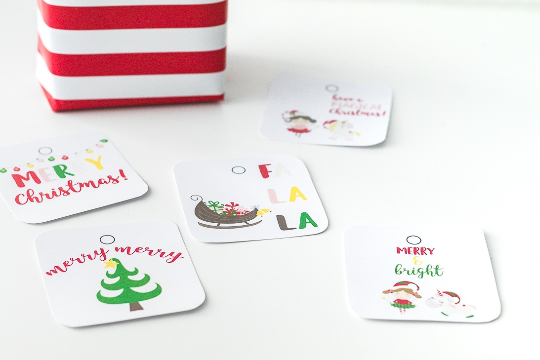 Sugarplum Fairies and Unicorn Christmas Free Printable Gift Tags