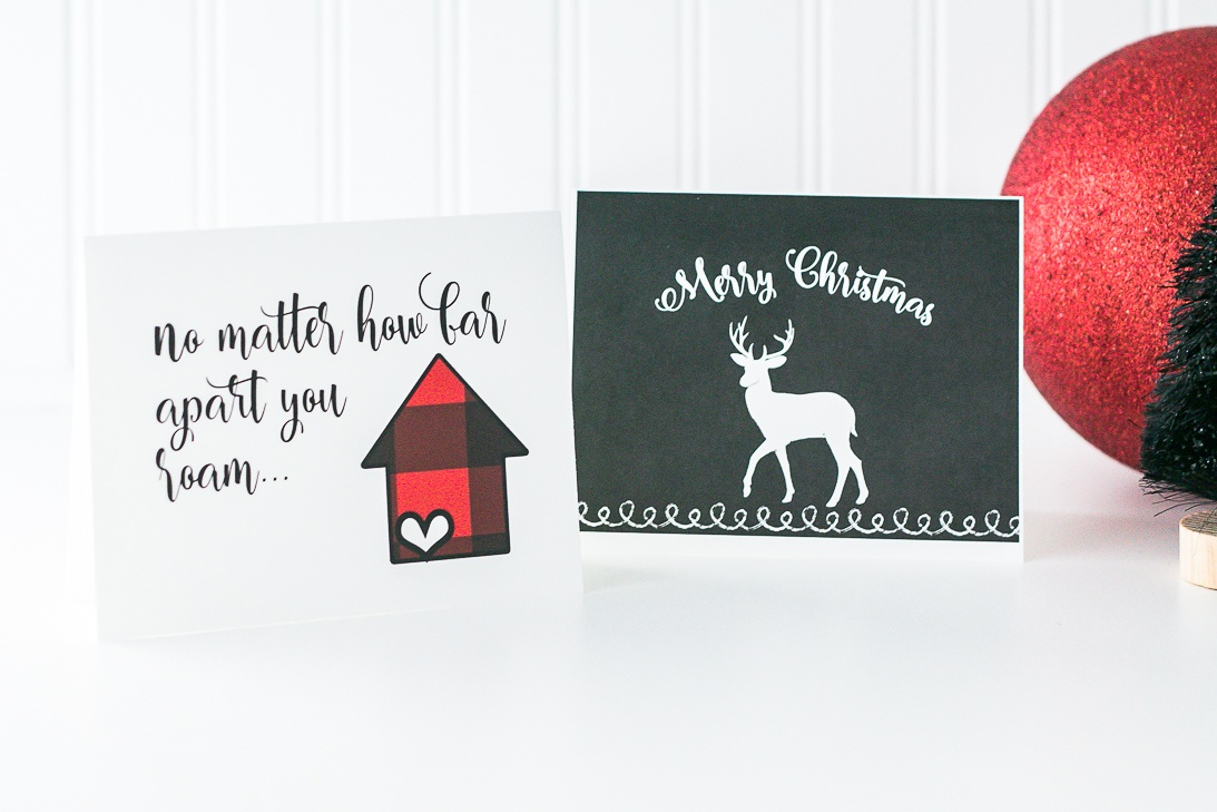 Printable Christmas card set