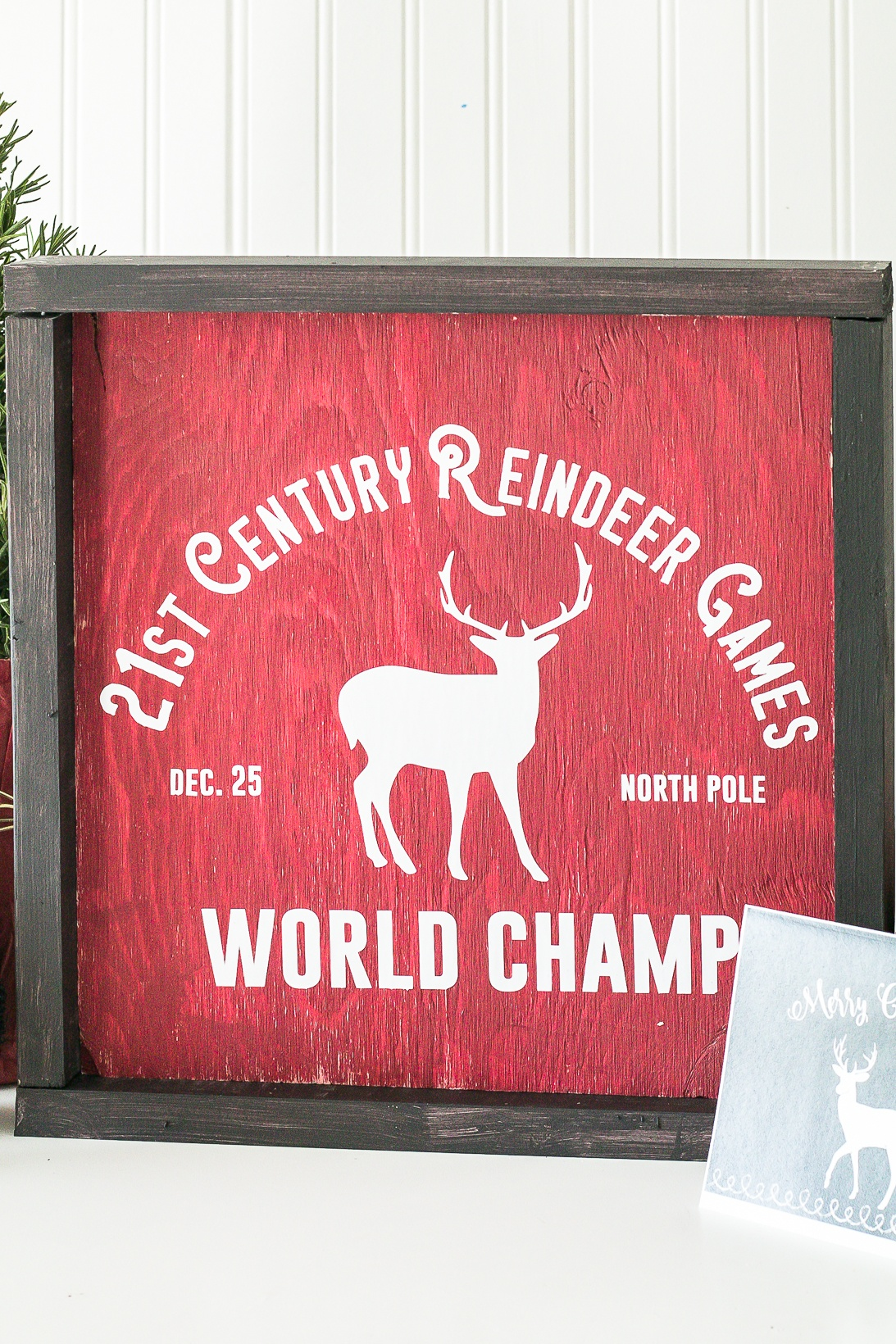 Reindeer Games old fashioned sign