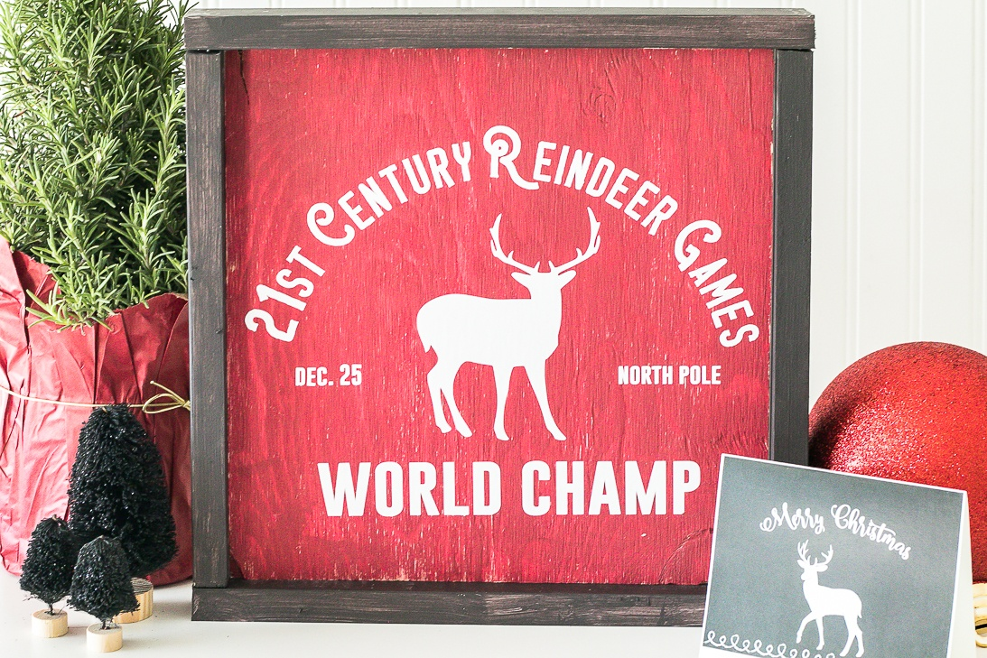 Reindeer Games World Champ North Pole SVG Sign