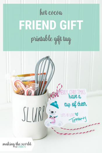 Hot Chocolate Gift Ideas with Free Printable Gift Tag