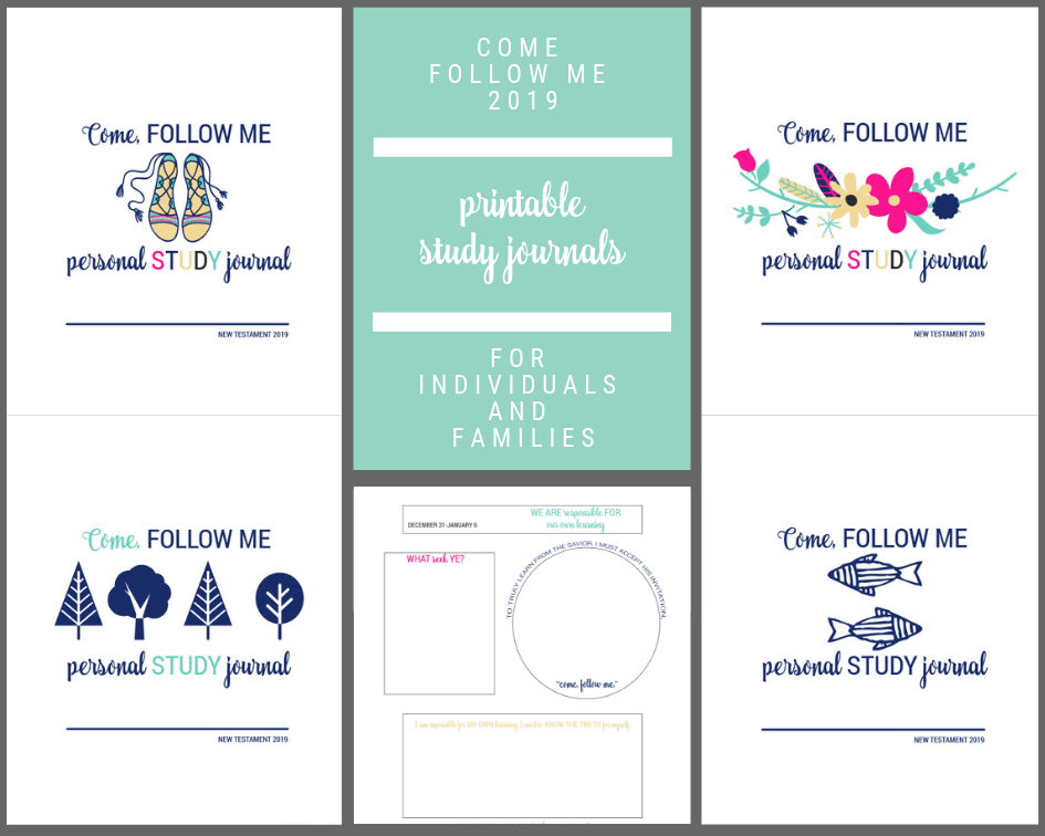 come follow me LDS 2019 printable study journals