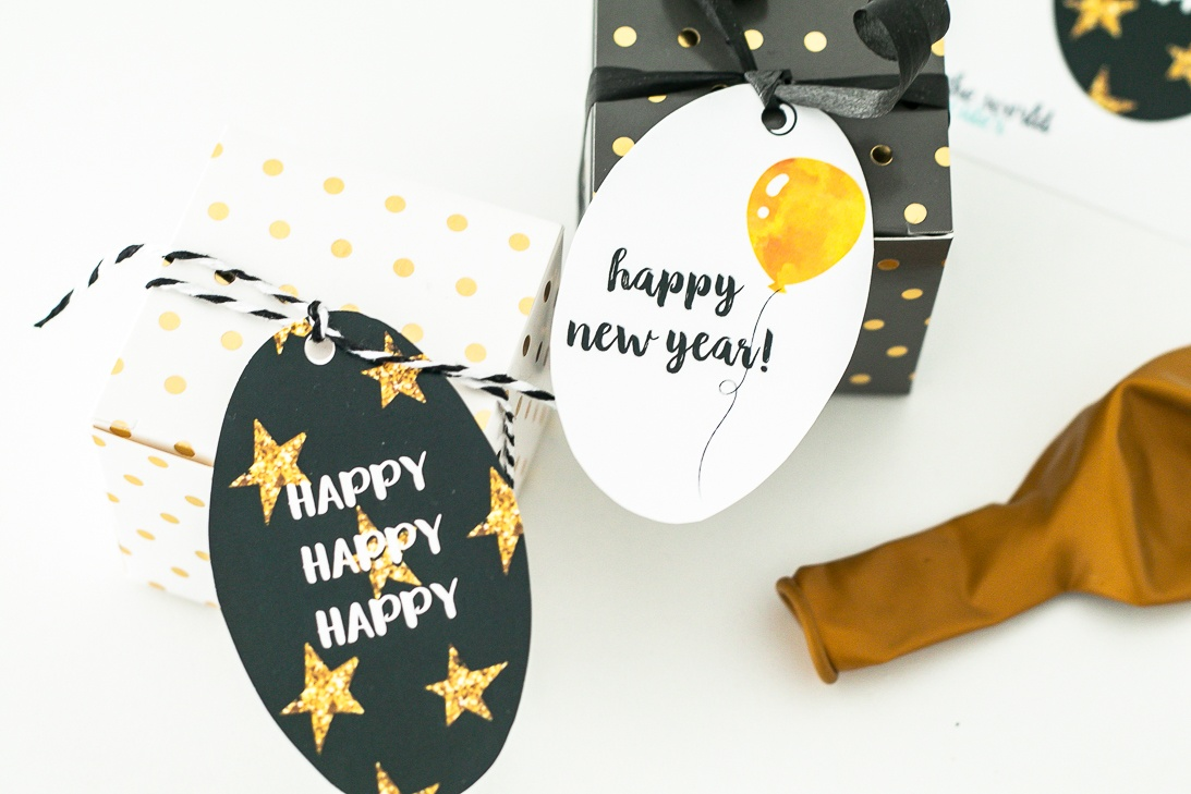 New Years Eve Gift Tags or Favor Tags