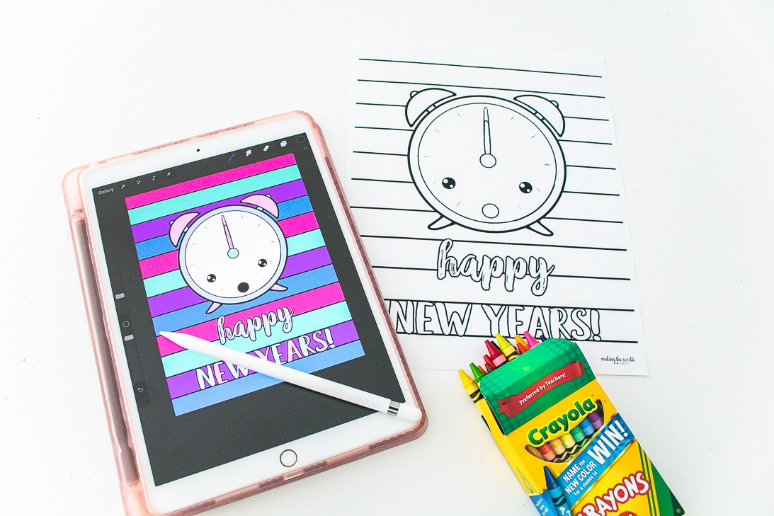 New Years Eve Coloring Sheet