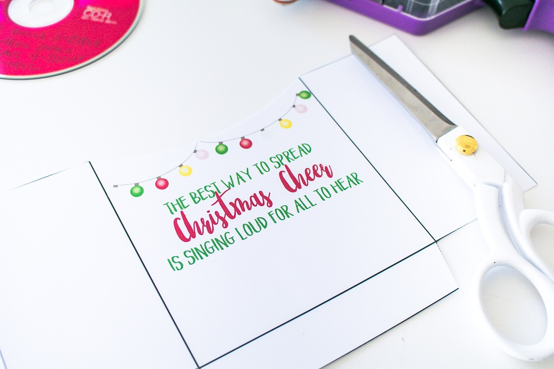 Elf Quote Christmas Cheer Gift Idea Music CD with printable tag