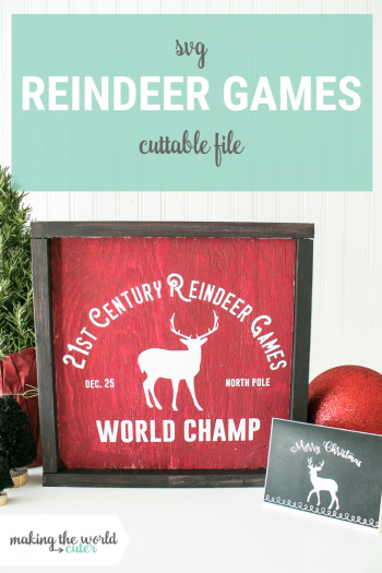 Reindeer Games Sign Holiday Gift Ideas