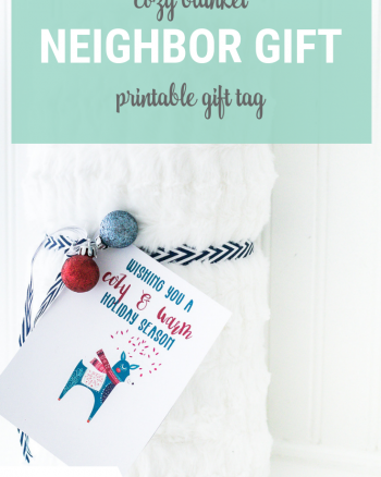 Blanket Friend or Neighbor Gift