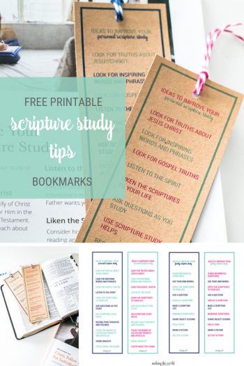 Ideas to Improve Scripture Study Bookmarks for Personal or Family Scripture Reading. Free printable bookmarks that coordinate with Come Follow Me