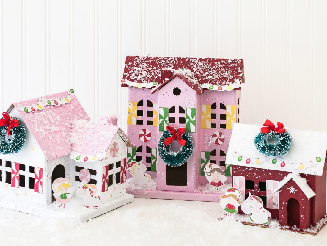 Sugar Plum Fairy and Unicorn Christmas Village