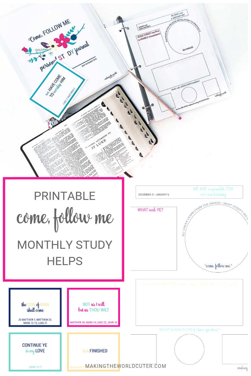 COME FOLLOW ME LDS SCRIPTURE STUDY JOURNAL PAGES AND STUDY HELPS
