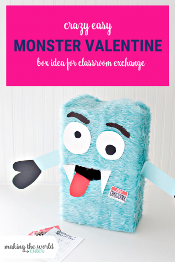 Crazy Easy Monster Valentine Box for Classroom Exchanges