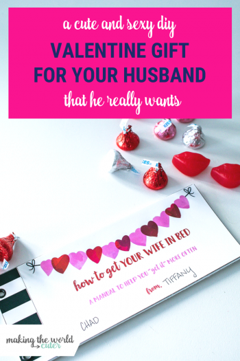 Valentine Gift for Husband that he really wants! DIY and easy...and SEXY!