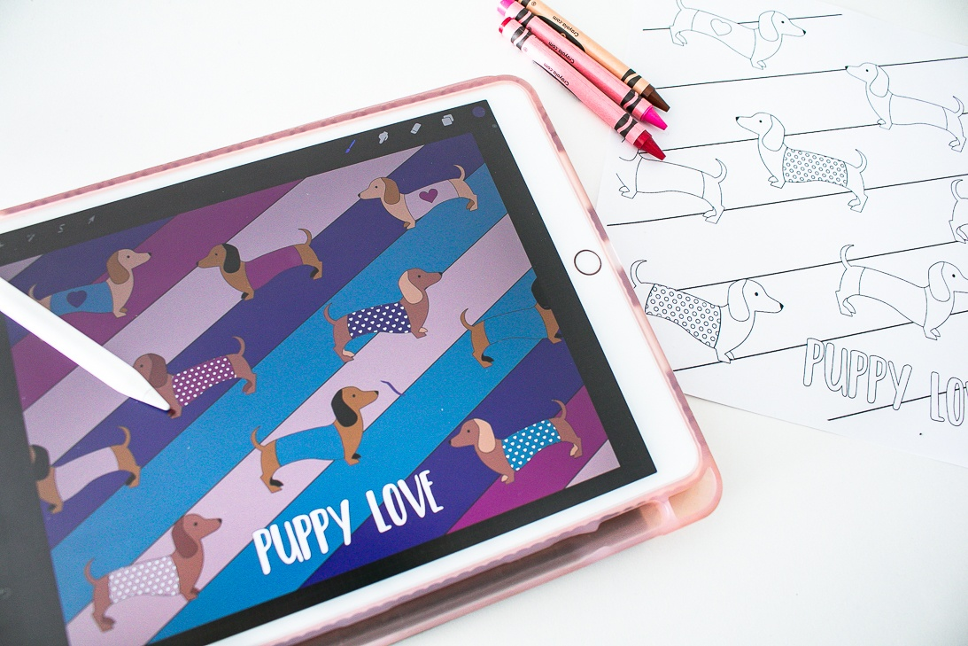 Digital or printable Valentine Coloring Sheets
