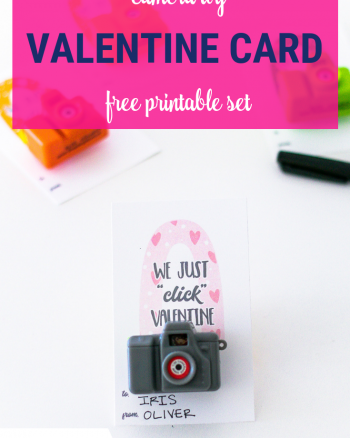 Valentine Camera Card Free Printable