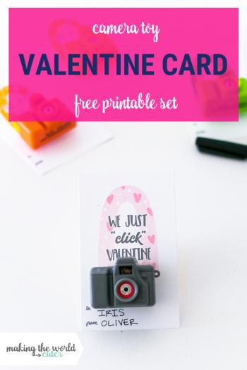 Valentine Camera Card Free Printable