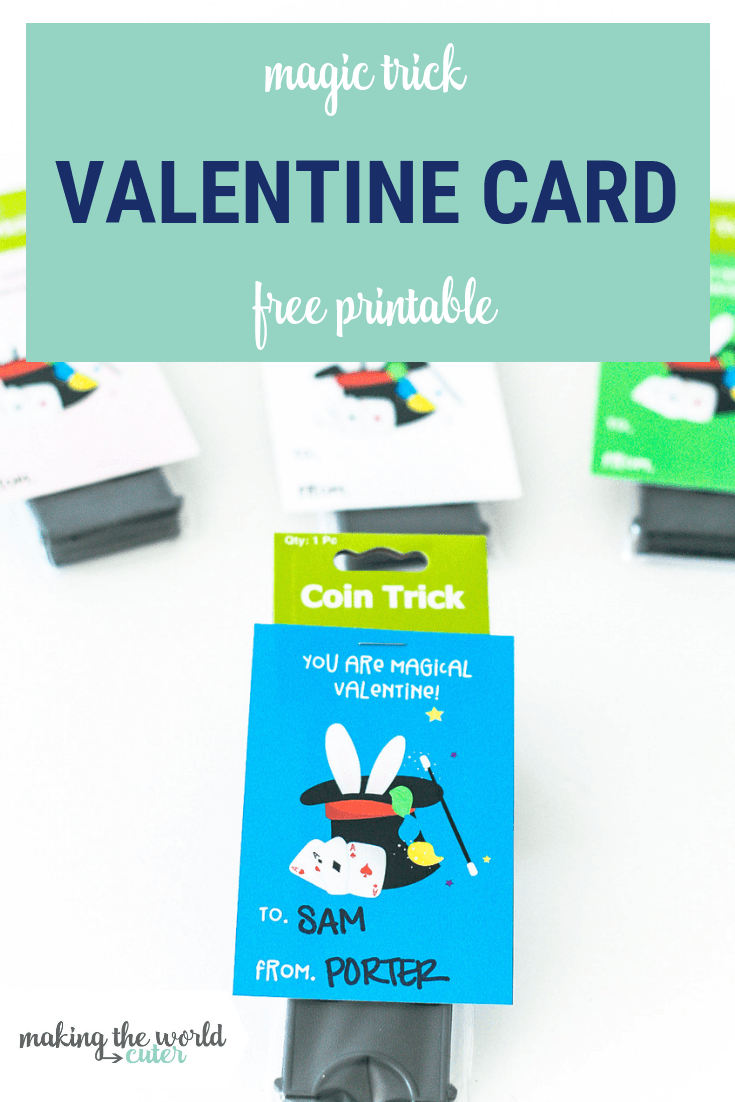 Give a fun magic trick with these Magic Valentine Free Printable Cards