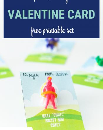 Parachute Valentine Card Free Printable Set