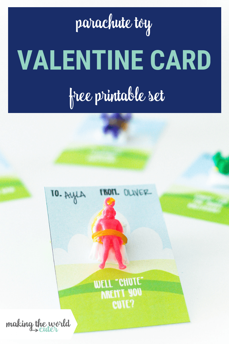 Parachute Valentine Card Free Printable Set