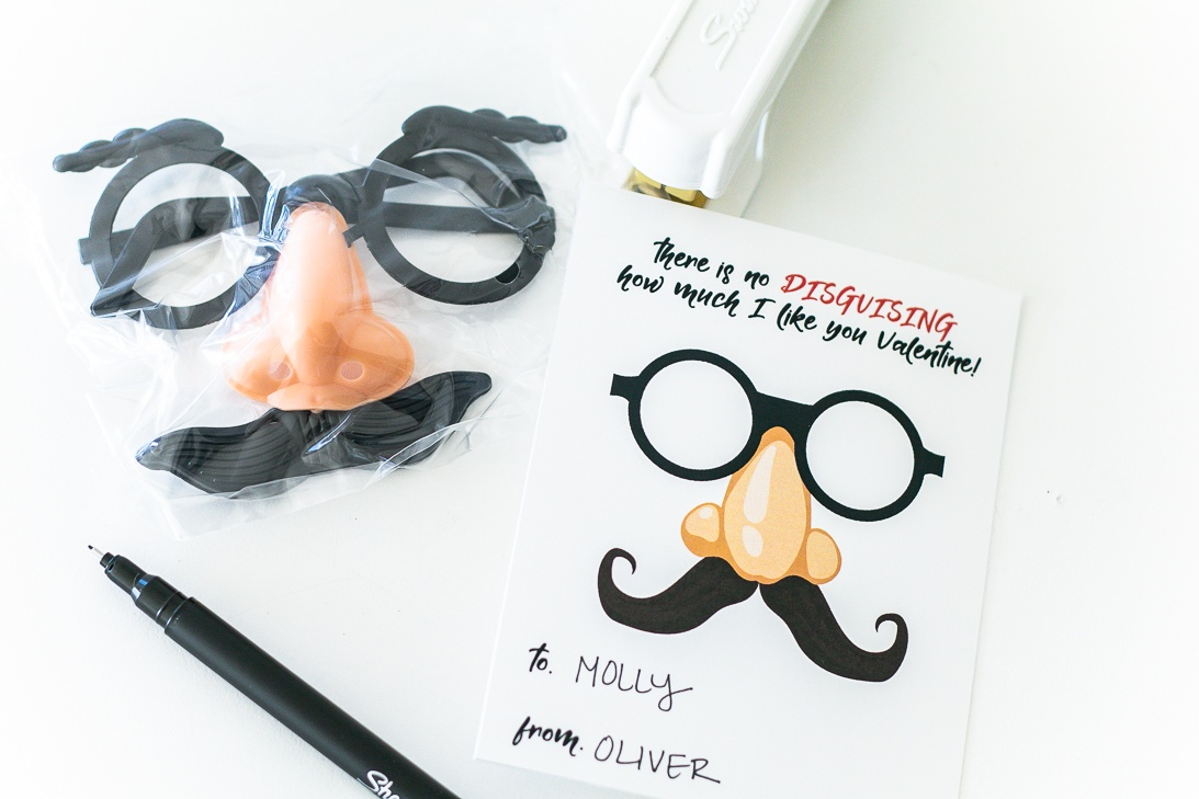 Disguise Valentine Free Printable Cards