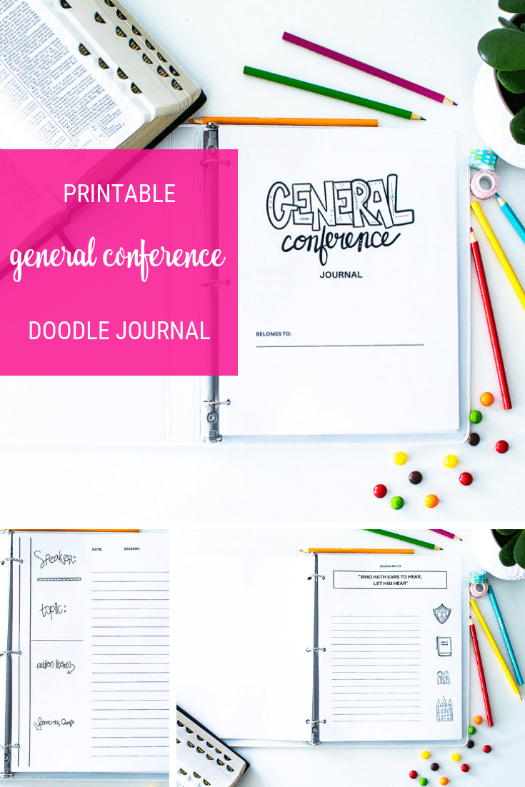 General Conference Doodle Notebook Journal. Printable! Color it in and make it your own!