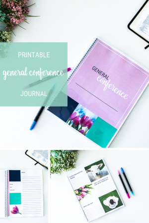 General Conference Printable Notebook Journal in Pastel Colors