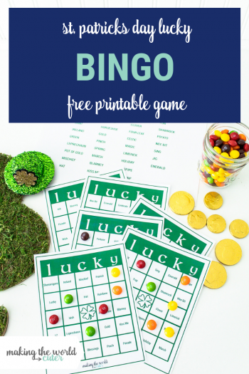 St Patrick's Day Lucky Bingo Printable Game