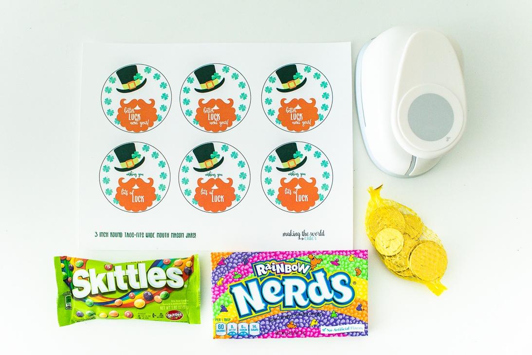 Leprechaun Gift Tags Free Printable for St Patricks Day