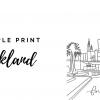 oakland temple print
