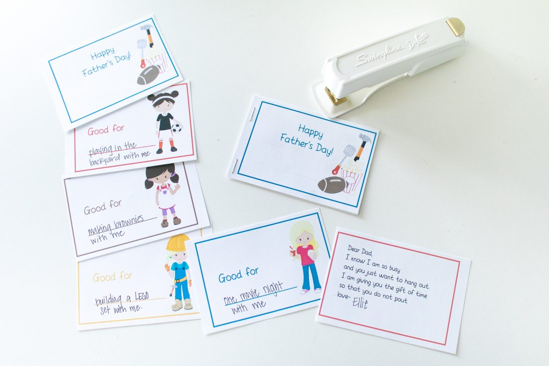 Cute little coupon books for Father's Day