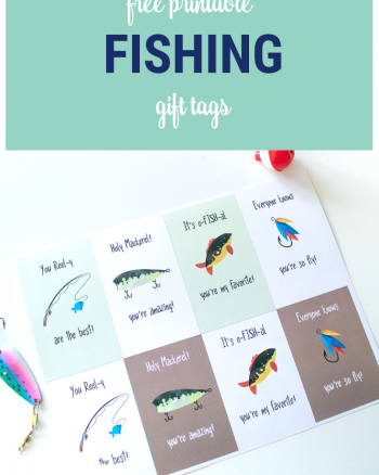 Free Printable Fishing Gift Tags for Father's Day, Birthdays or just for fishing gifts!